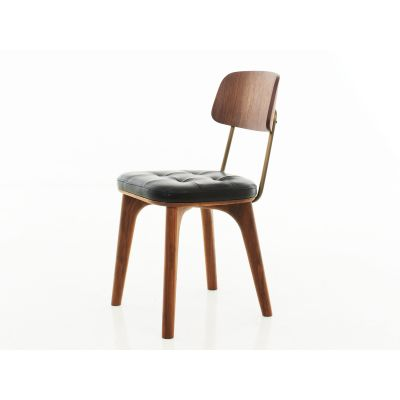Utility Dining Chair V Wood Black Ash, Caress Peach