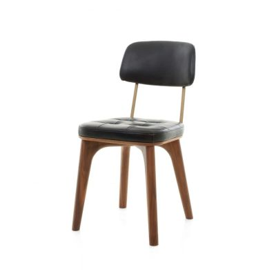 Utility Dining Chair U Wood Black Ash, Caress Peach