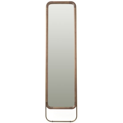 Utility Rectangular Mirror Walnut, Small