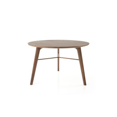Utility Round Dining Table C1200 Wood White Ash