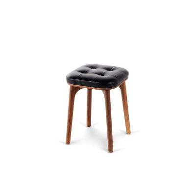 Utility Stool H460 Wood Walnut Stained Ash, Hallingdal 65 166