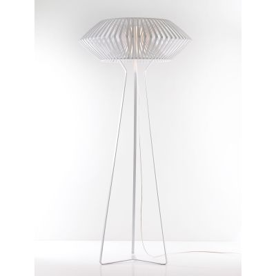 V Floor lamp Black, Transparent Cable