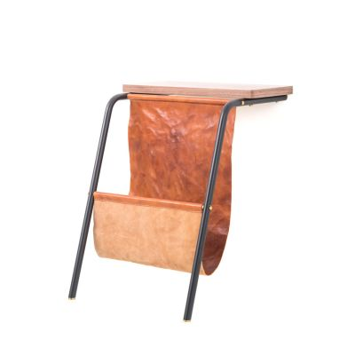 Valet Magazine Rack Wood Soap Finished Walnut
