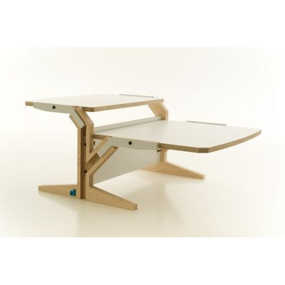 Vegetale Coffee Table - Double Horizontal Tablet Snow White
