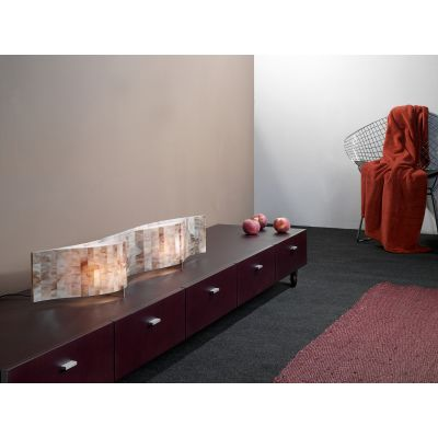 Vento VN02 Table lamp Red, Transparent Cable