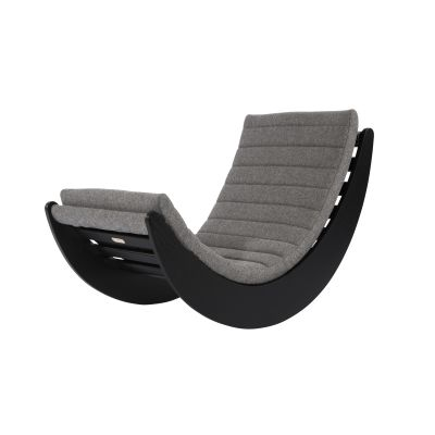 Verner Panton Relaxer Lounge Chair Natural, Wool Coal Grey