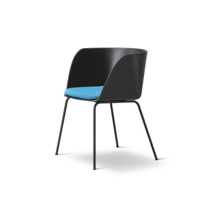 Verve 4 Leg seat upholstered Ancient Green, Nubuck 501 Light sand, Chrome Steel