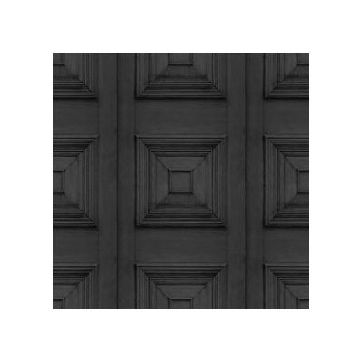 Victorian Panelling Wallpaper  Charcoal Victorian Panelling Wallpaper
