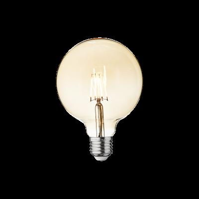 Vintage LED Edison Bulb Old Filament Lamp - 5W E27 Globe G125 Amber