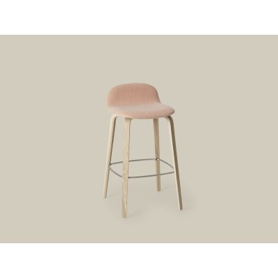Visu Bar Stool - Upholstered B0300 - Elmosoft 44066 orange, Low