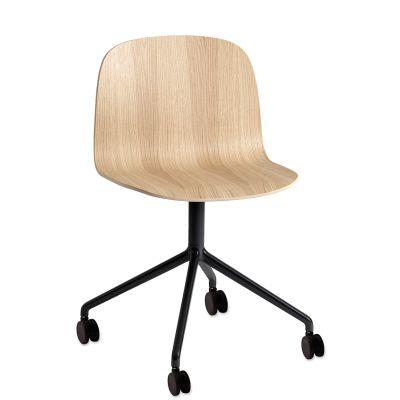 Visu Wide Chair / Swivel With Castors Black/Black