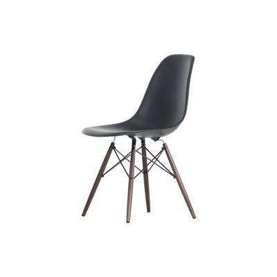 Vitra Eames Plastic Side Chair DSW Without Upholstery 01 Basic dark, 02 Golden Maple, 15 felt white for hard floor