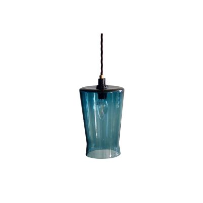 Waisted Flat Top Pendant Light Teal