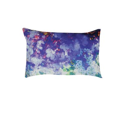 Washed Lily & Violet Rectangular Cushion