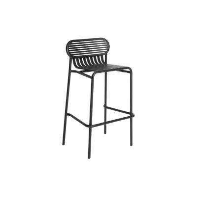 Week-End High Stool Black, RAL 9005