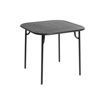 Week-End Square Table Black,RAL 9005