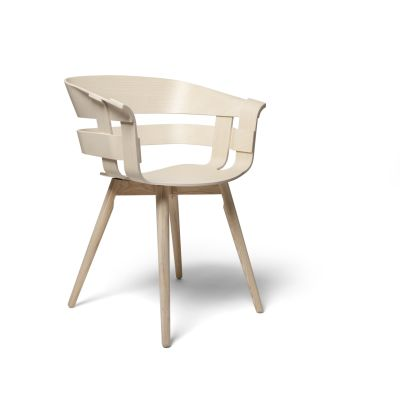 Wick Chair - Wooden Legs Ash