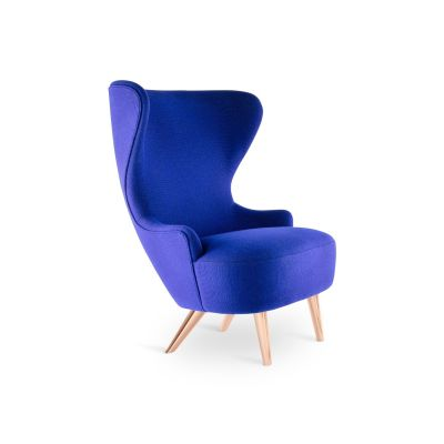 Wingback Micro Chair TD Brass, Elmo Soft Leather 00100