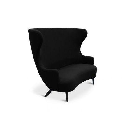 Wingback Sofa Natural, Gentle Prune 295