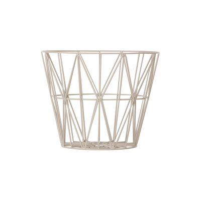 Wire Basket - Set of 4 Large, Light Grey