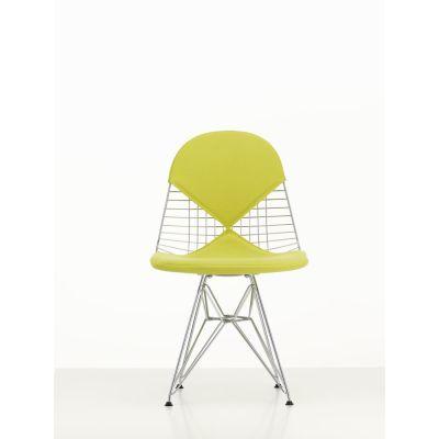 Wire Chair DKR 2 Hopsak 71 yellow/pastel green, 01 chrome, 04 basic dark for carpet