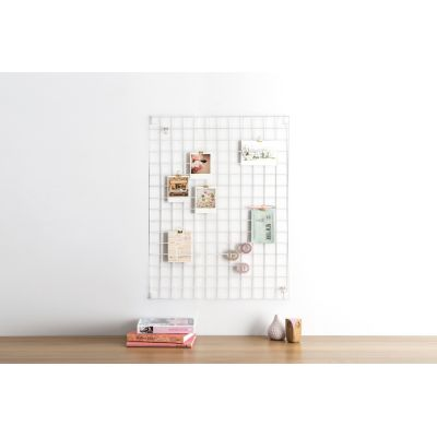 Wire Mesh Memo-Board White
