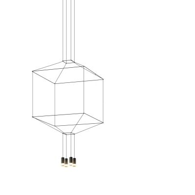 Wireflow Chandelier - 4 LEDs Non-included, 100 x 100cm