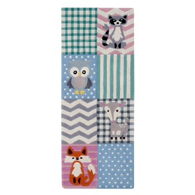 Woodland Creatures: Childrens Wool Rug (Runner) Woodland Creatures: Childrens Wool Rug (Runner)