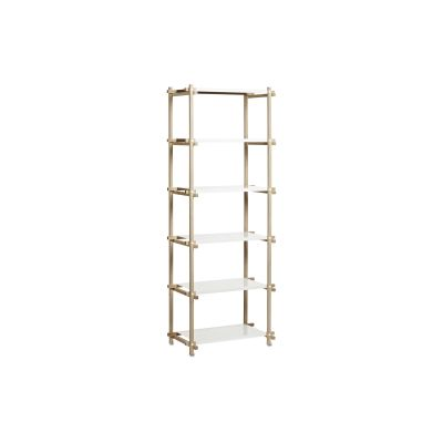 Woody Column Shelving System Oak, White, High