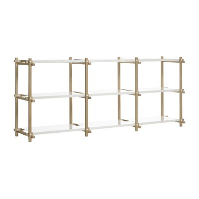 Woody Shelving System White, Low
