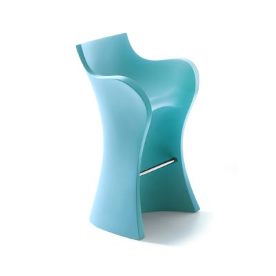 Woopy High Stool Topaz Blue