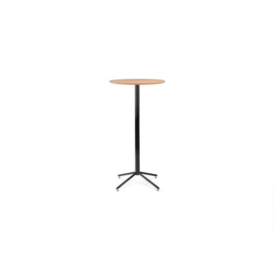 Working Girl Bistro Poser Table Jet Black - RAL 9005, Low