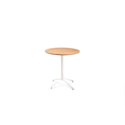 Working Girl Bistro Side Table Raw Steel