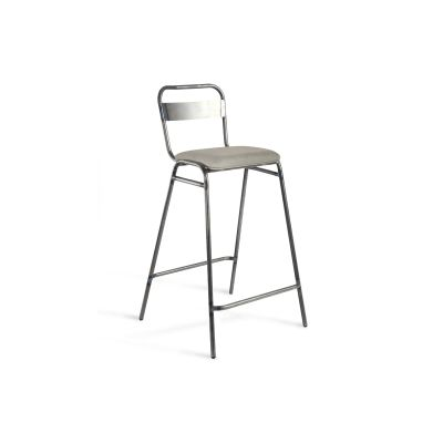 Working Girl Soft Cross Stool Jet Black - RAL 9005, Rivet Tensile EGL20, 67.5cm