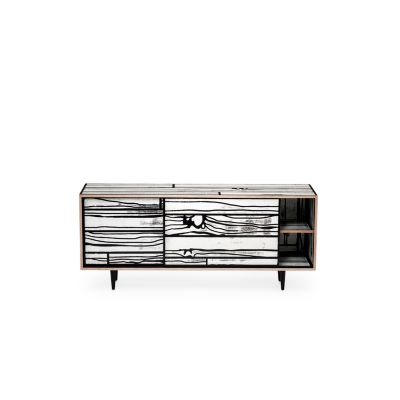 Wrongwoods Low Cabinet - L150 White with Black