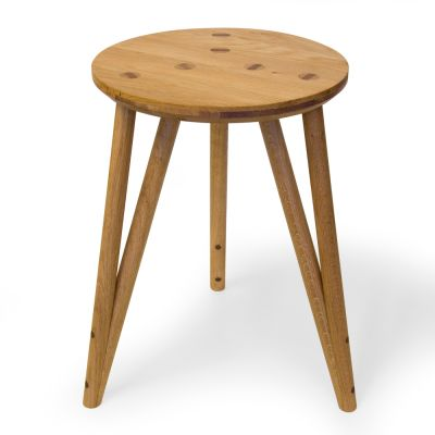WSO Stool Wedged Stool in Oak