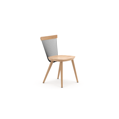 WW Dining Chair WW Dining Chair - Oak & Black