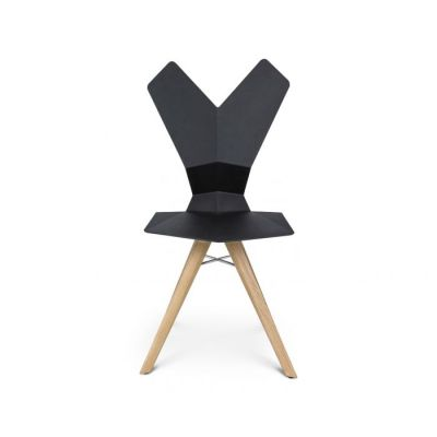 Y Chair Black Shell, Natural Oak Base