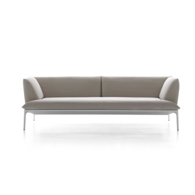 Yale Sofa, 3 Seater Pelle_albicocca_R801, Black