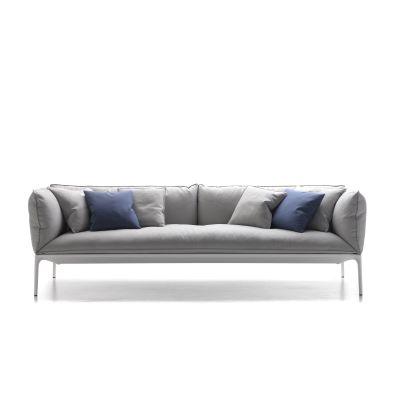 Yale Sofa, 4 Seater Pelle_albicocca_R801, Black