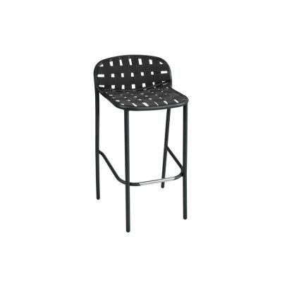 Yard Barstool - Set of 2 Matt White - White/Grey