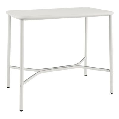 Yard Counter Table with Aluminium Top Matt White, Medium