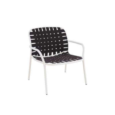 Yard Lounge Chair - Set of 2 Matt White - White/Grey