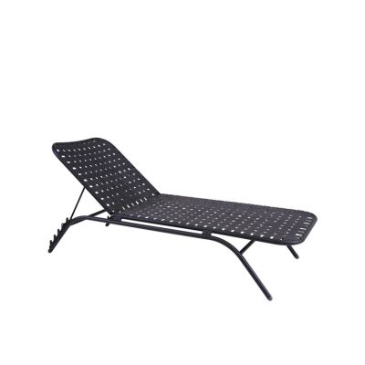 Yard Stackable Sunbed Matt White - White/Grey