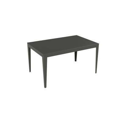 Zef Aluminium Rectangular Table 140x90 Matt Varnish Galva - 28 RAL NA, Tapered Legs