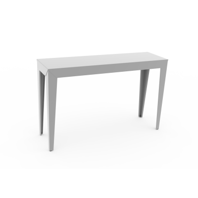 Zef Indoor Console Table 120x35 White - 01 RAL 9016, Yes, Straight Legs