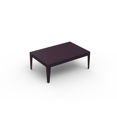 Zef Low Steel Rectangular Table 120x80 Matt Varnish Galva - 28 RAL NA, No, Tapered Legs