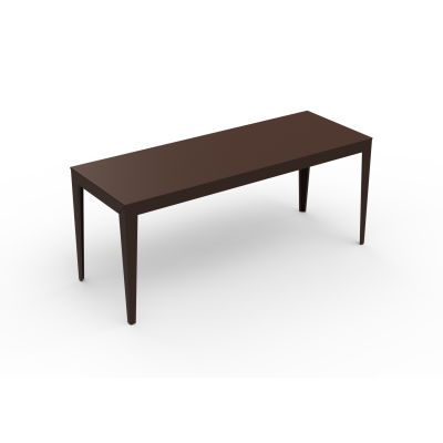 Zef Steel Rectangular Table 180x65 Straight Legs, White, Yes