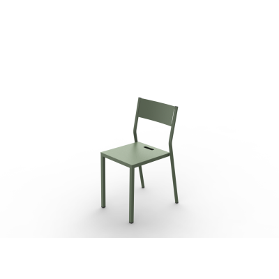 Zef Take Chair Matt Varnish Galva - 28 RAL NA, Aluminium