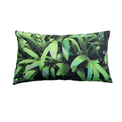 Zingy Palm Print Rectangular Cushion Small